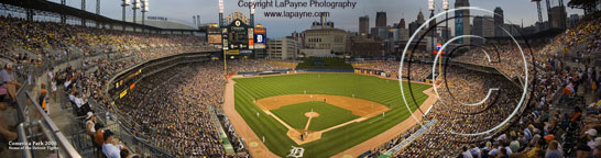 Comerica, in the evening