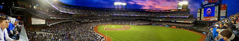 Citi Field Opening Day 2009 Sunset 54""