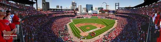 Busch Stadium 2010, Opening Day