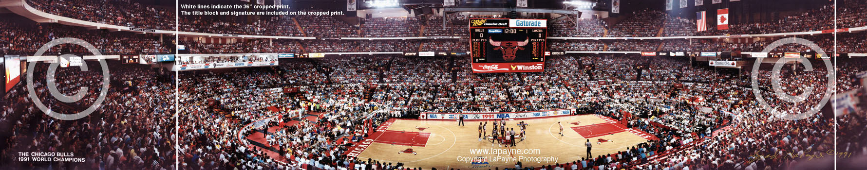 Chicago Stadium Panorama, 1991 NBA Finals