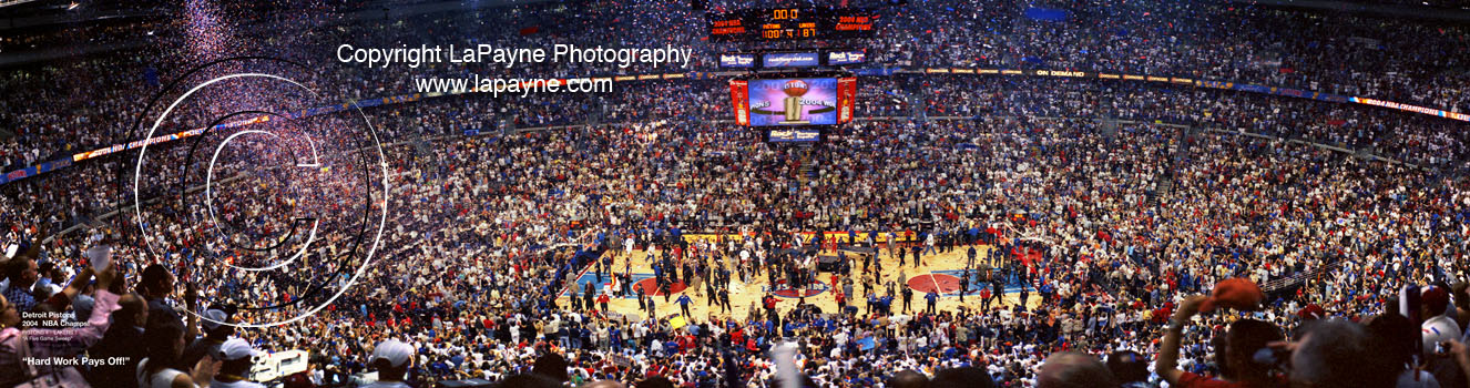 Detroit Pistons 2004 NBA Finals Game 5 Celebration