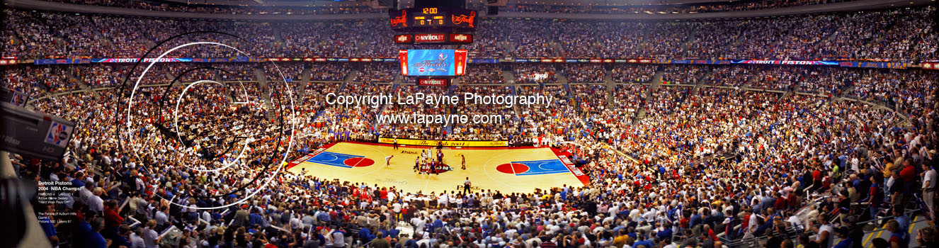 Detroit Pistons 2004 NBA Finals Game 5 Tipoff Panorama