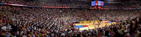 Detroit Pistons Panorama 2004 NBA Finals Game 4 Corner Shot
