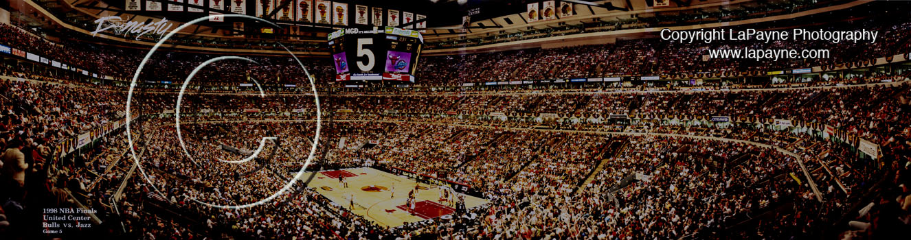 Bulls 1998 NBA Finals - Game 5 panorama