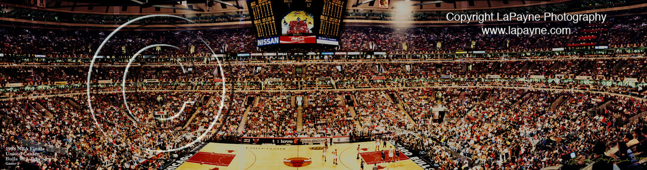 1998 NBA Finals panorama- Game 3 @ United Center