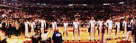 NBA Finals 1997, National Anthem panorama