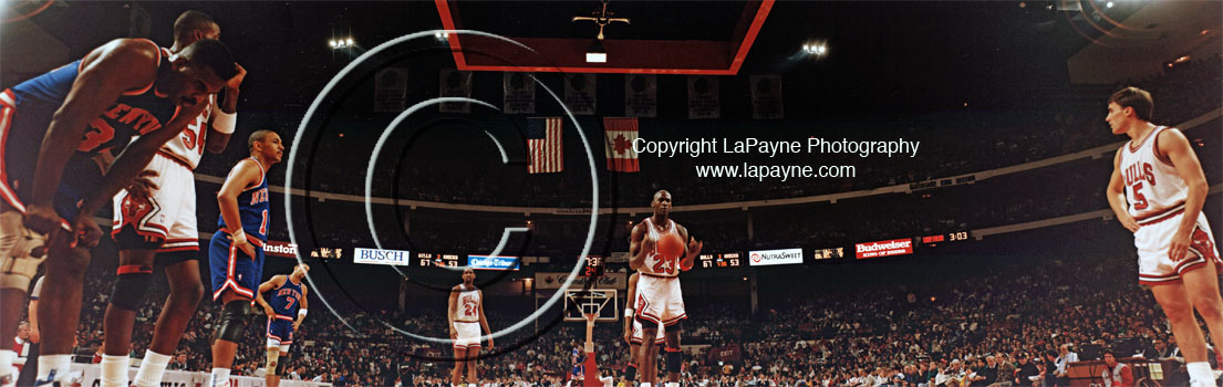 Michael Jordan at The Line, Chicago Stadium