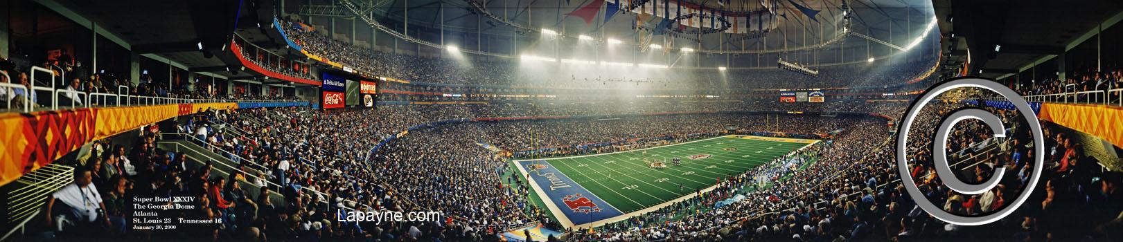 Super Bowl 34 Xxxiv 2000 Panorama Images Lapayne