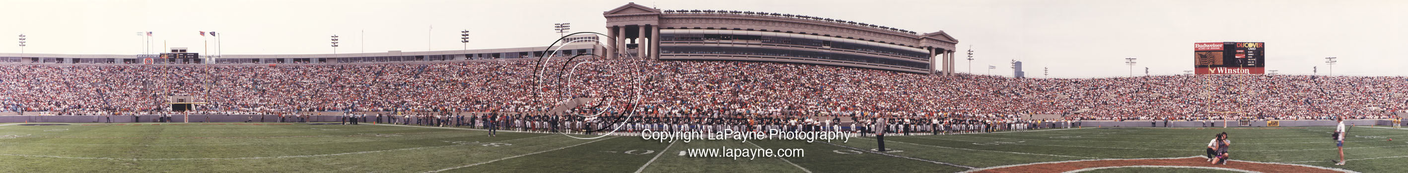 ON the FIELD during the  National Anthem @ Soldier Field 1988