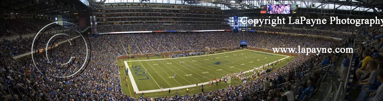 Lions at Ford Field - Corner Shot Panorama