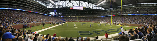 Lions at Ford Field - End Zone Shot