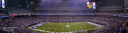 Lucas Oil Stadium, Colts vs. Patriots Midfield Kickoff 36""