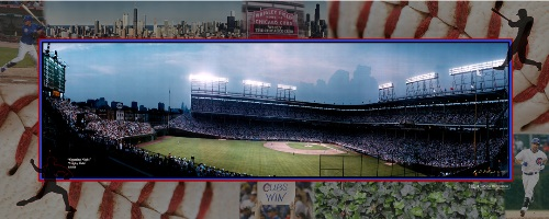 "Wrigley Field, Chicago Cubs composite photo | 8"" x 20"""